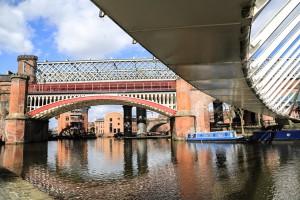 Under the white bridge