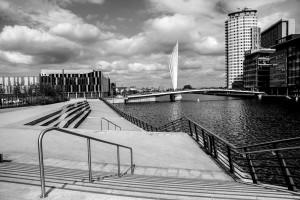 Footbridge to Media City
