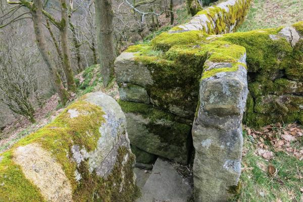 Gap in wall