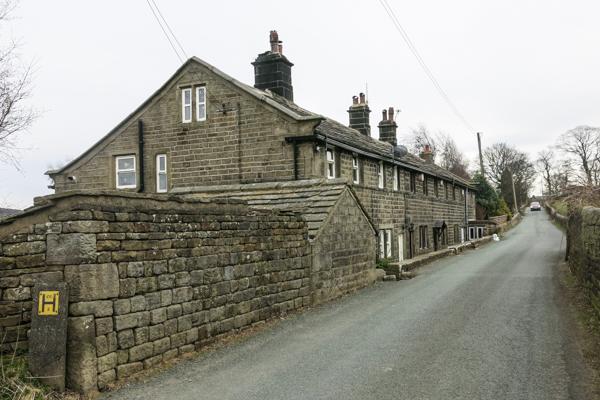Lane towards Heptonstall