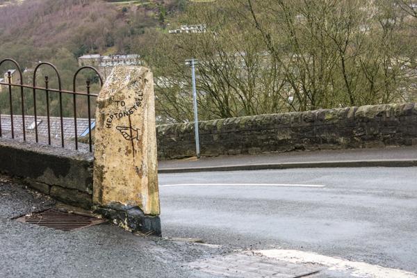 Milepost on sharp junction
