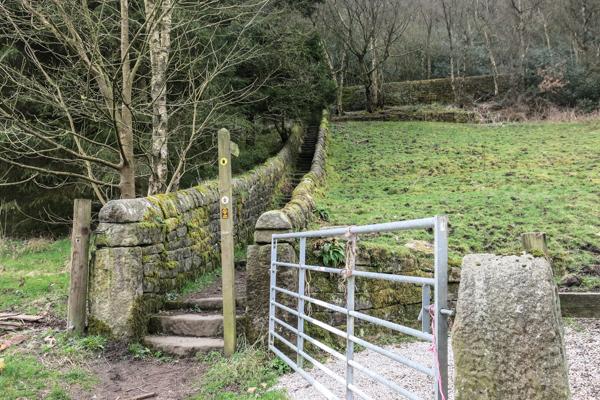Up steep stone steps