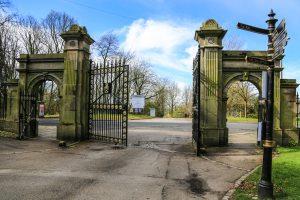 Entrance to University opposite park gates