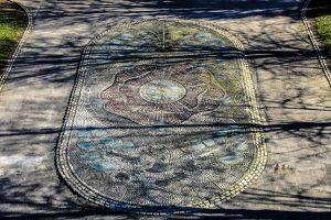 Red Rose Mosaic, Williamson Park