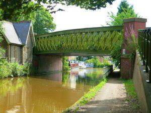 Detour under canal bridge
