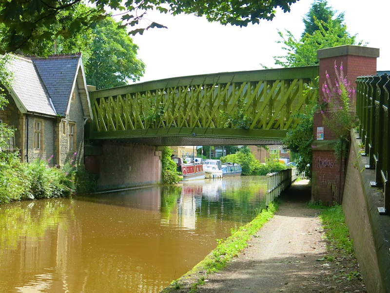 Detour under canal bridge