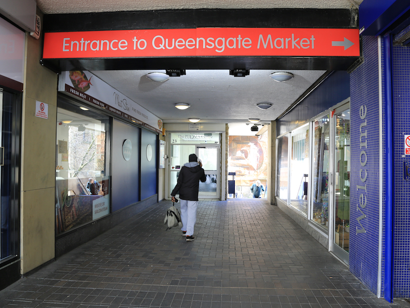 Entrance to Queensgate Market