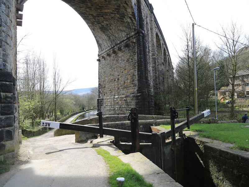 Canal bridge after lock