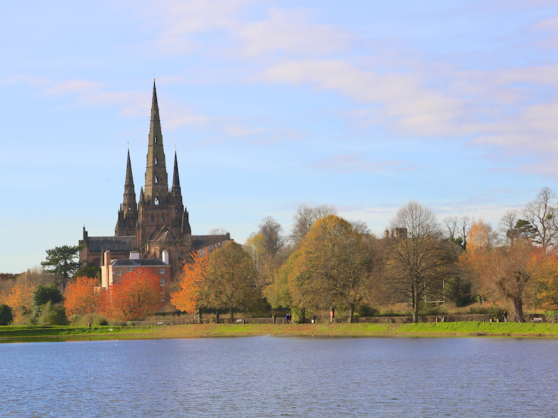 Cathedral across Stowe Pool