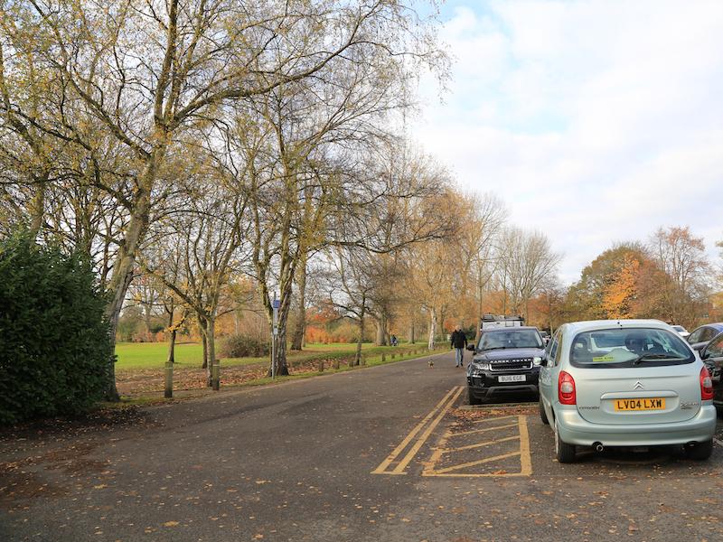 Cross corner of car park