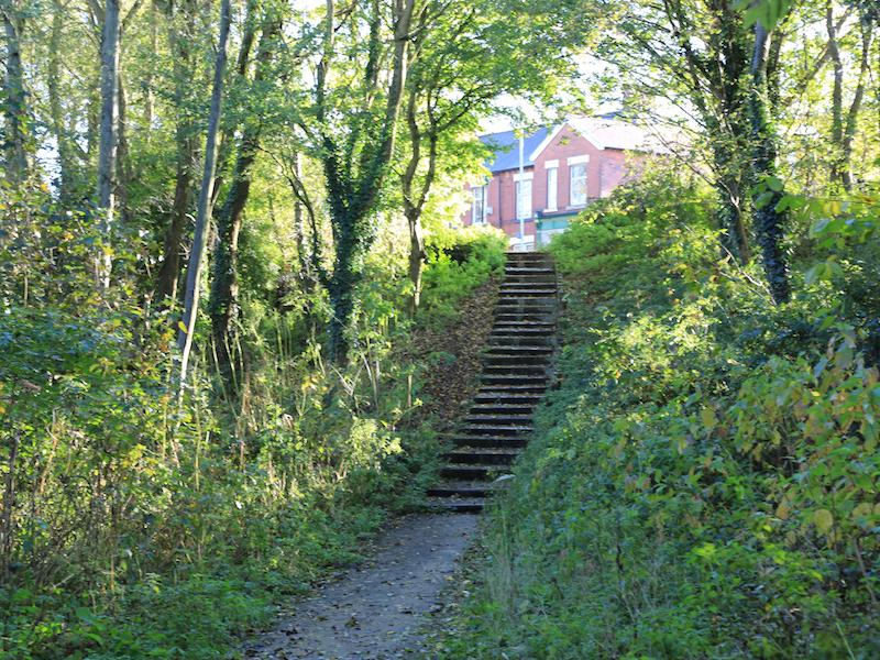 Steps up to New Bridge Lane