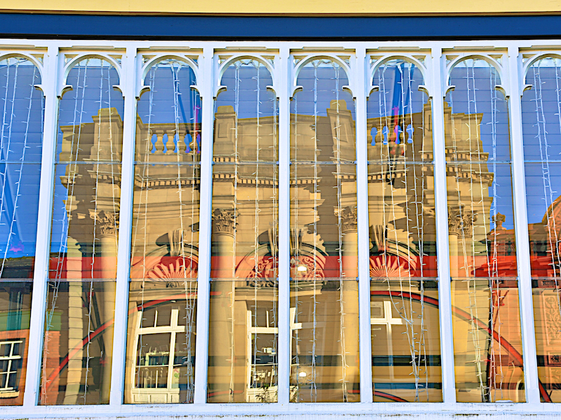 Market hall reflections