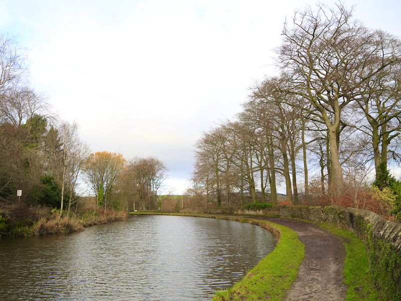 Towpath on the right