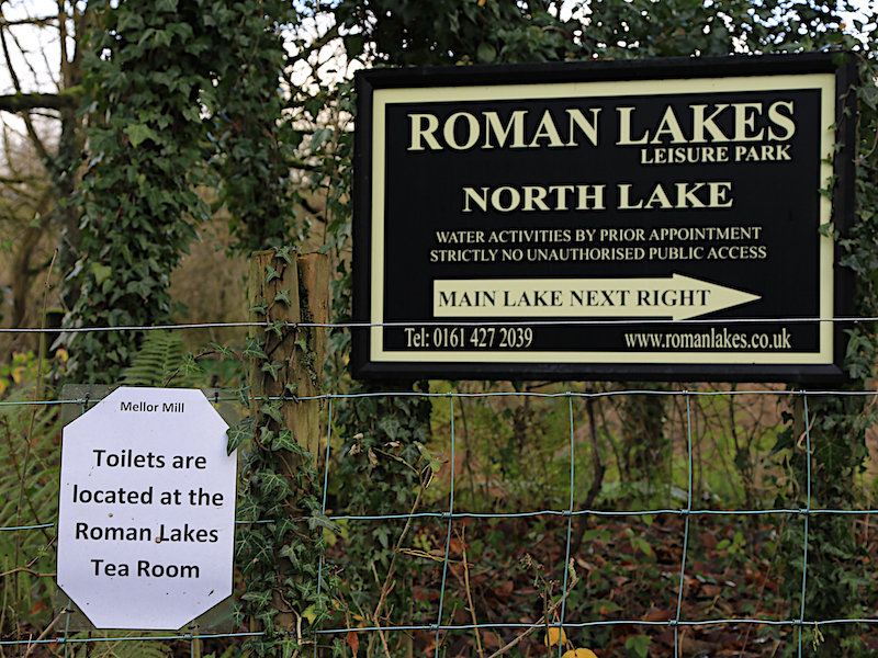 Sign to Roman Lakes