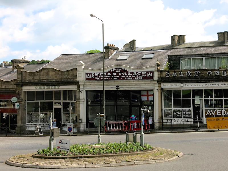shops by roundabout