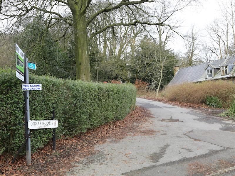 left into Corbar Woods Lane