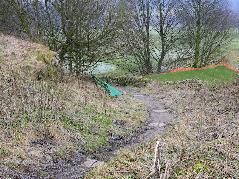 path down to golf course