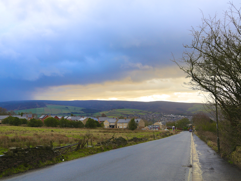 Descending towards Glossop