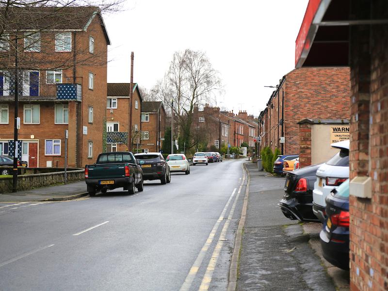 Cross Regent Road into New Street