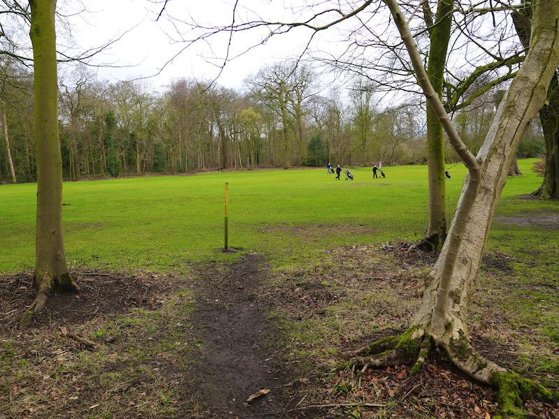 A4d Yellow post cross fairway
