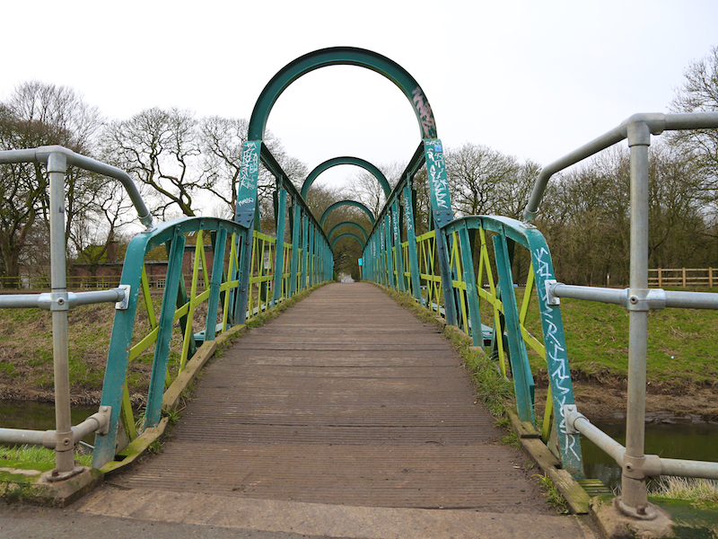 view across footbridge