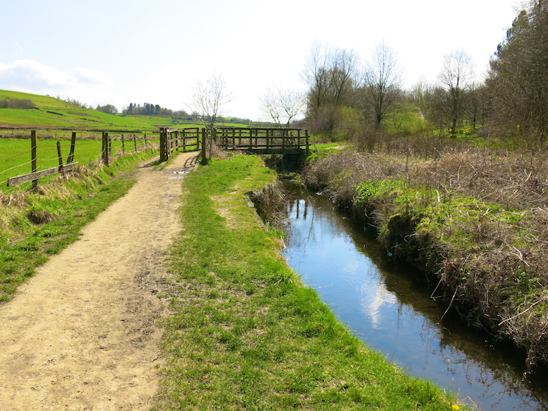 Path with stream on right