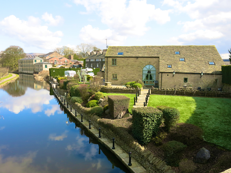 Looking back at canalside converted barn