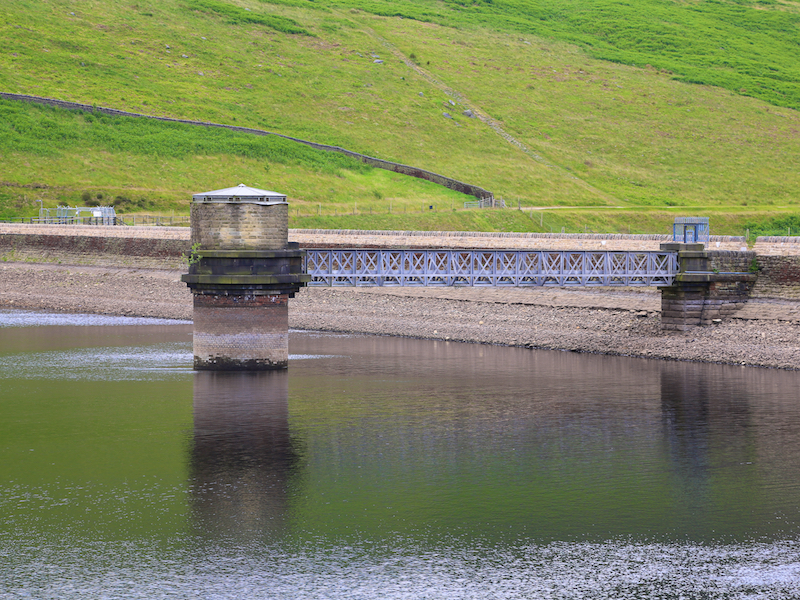 Dam at top of Dove Stone