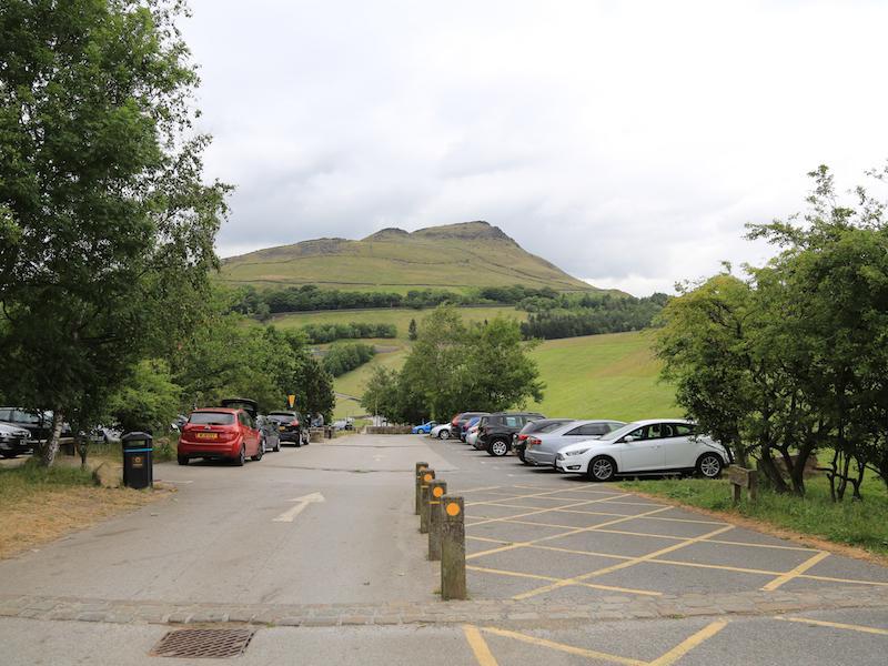 Car park below dam