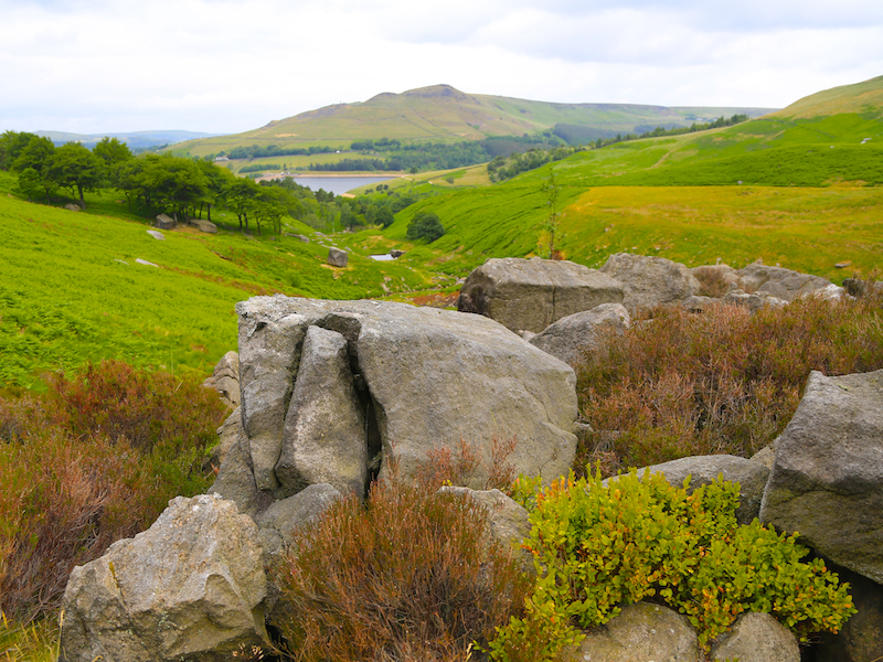 View down to Dove Stone