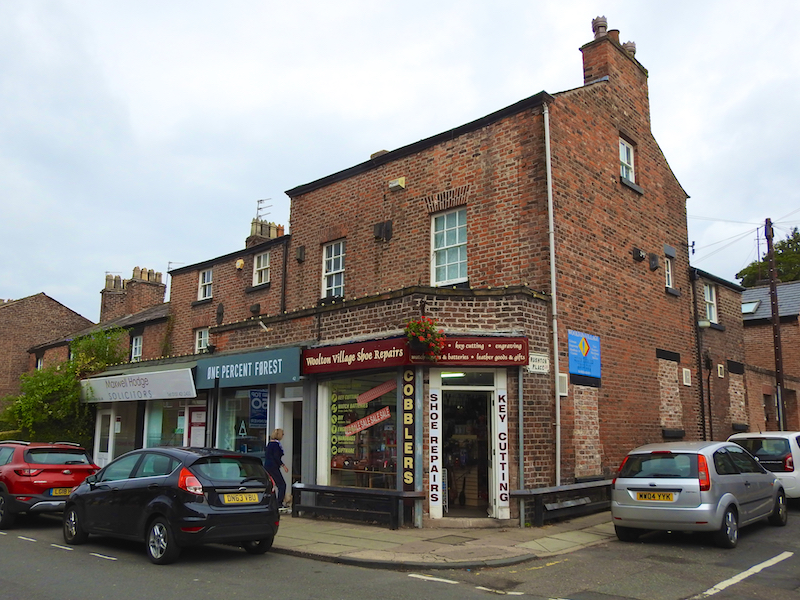 Woolton village shops and cafes