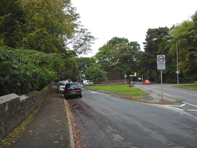 Fork left Calderstones Road