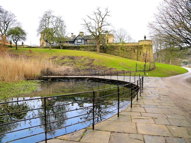 Pond below Hall