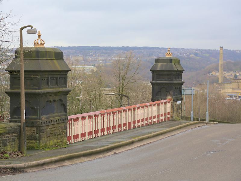 Ornate iron bridge