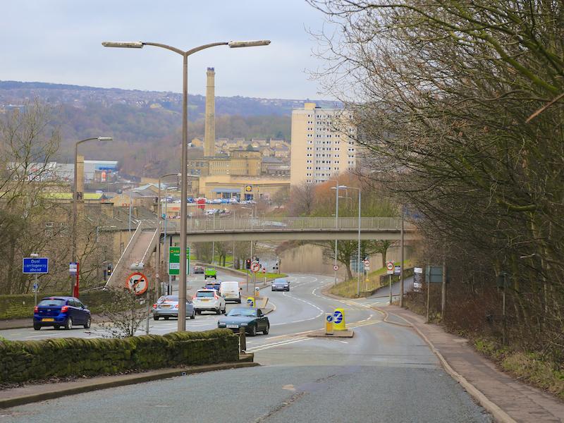 Down New Bank to footbridge
