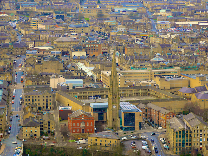 View down to Piece Hall