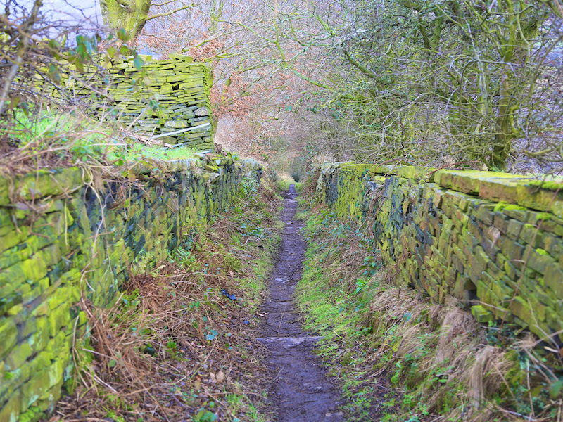 Downhill on footpath