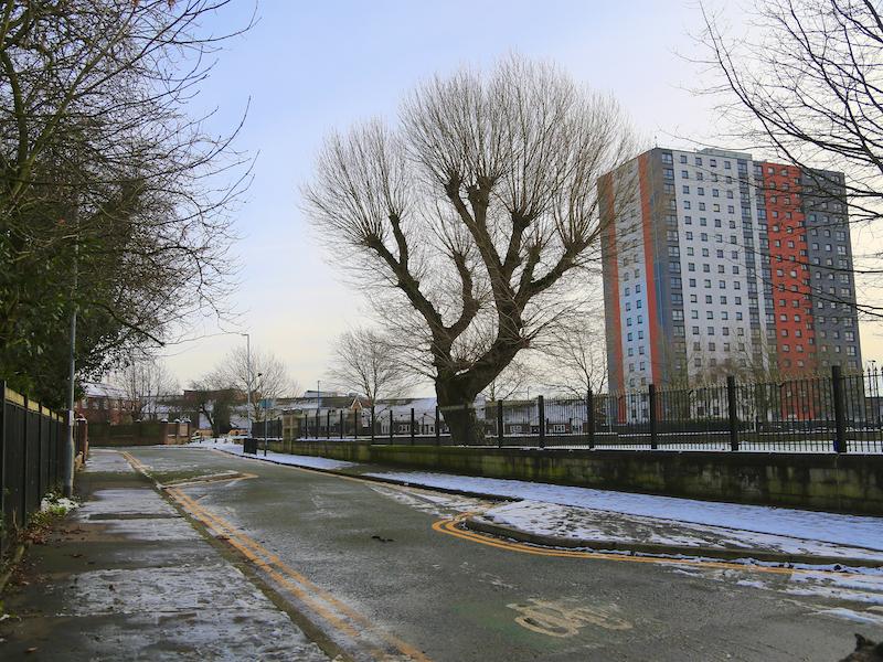 Ordsall Park on right