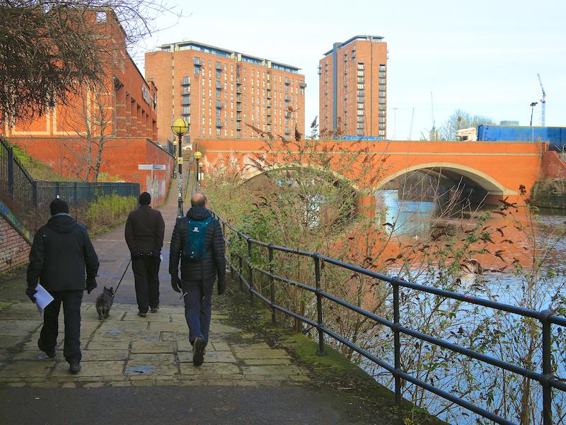Towards Regent Road bridge