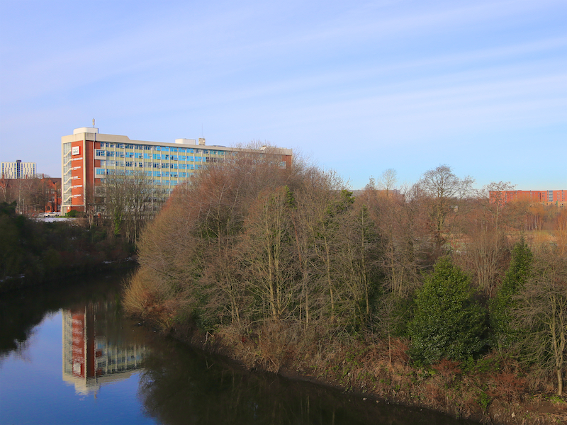Salford University by the River Irwell