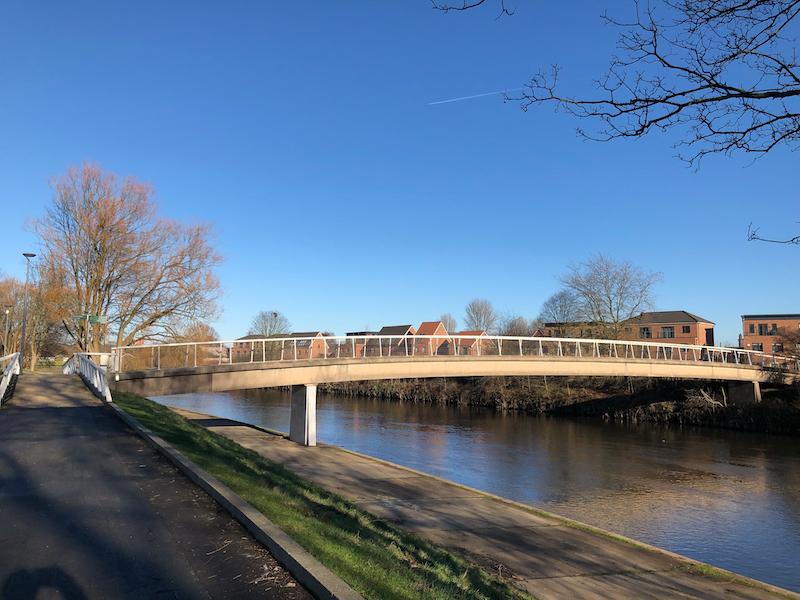 Modern footbridge