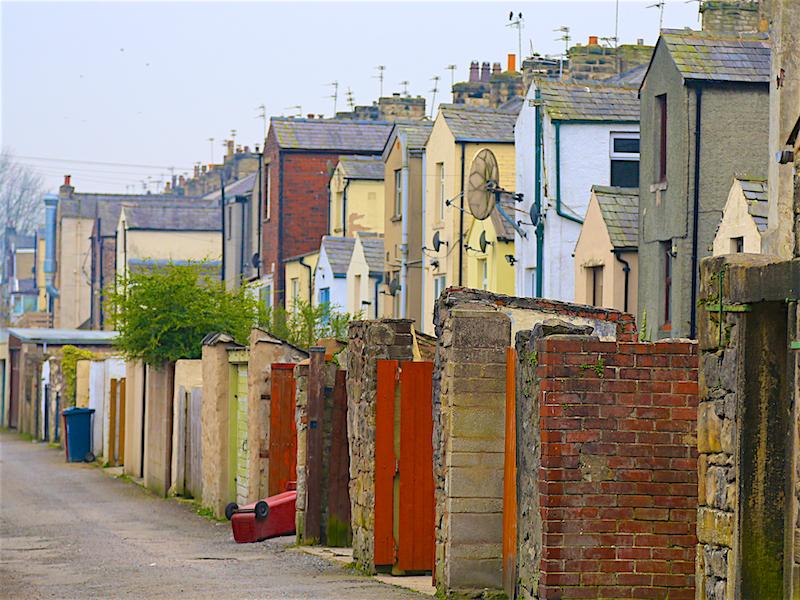 Backs of terraced houses